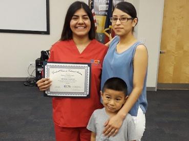 Brianna Guerrero and family.