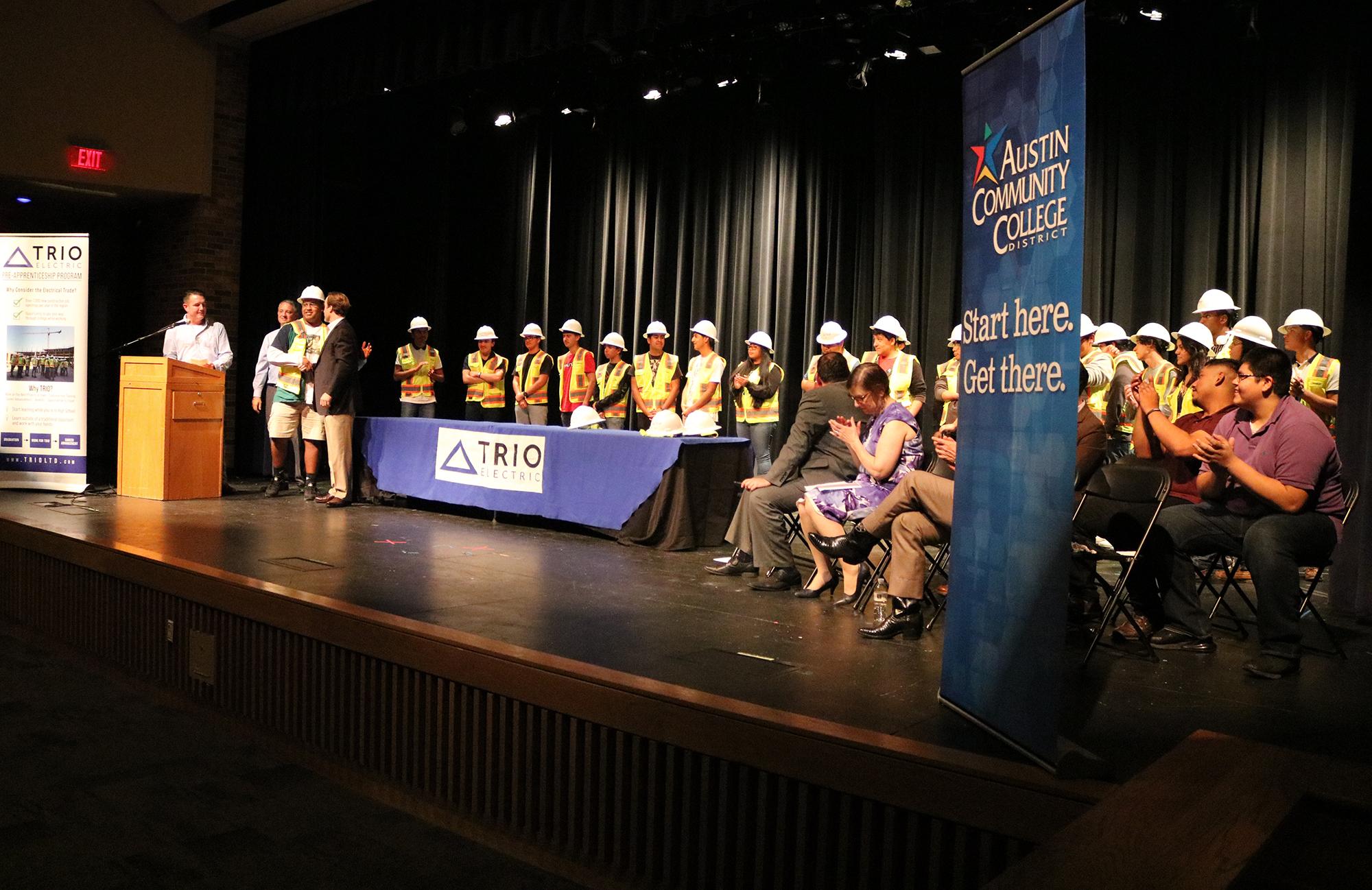 Ceremony at Navarro High School